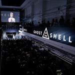 Scarlett no lançamento do trailer de Ghost in the Shell em Tóquio